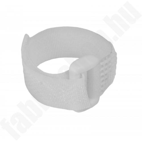 Tépőzáras szíj 12x150mm, fehér 5db