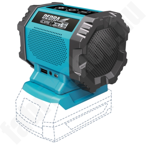 Dedra SAS+ALL akkumulátoros bluetooth hangszóró 18V